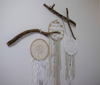 dream catchers blanc et drift wood