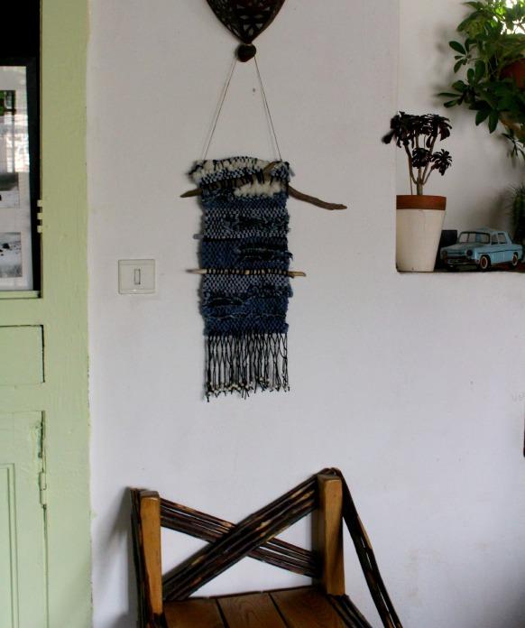 Weaving Adélie, tissus recyclés et bois flottés