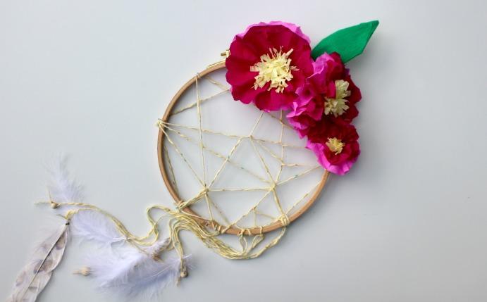 attrape reves fleurs crepons