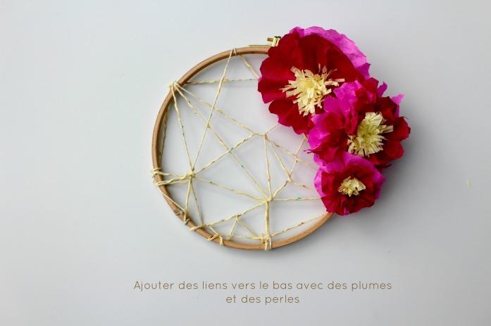 dreamcatcher fleur en papier
