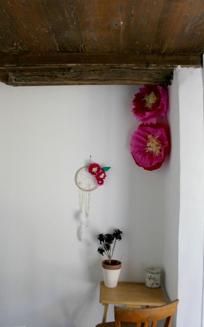 Tuto dreamcatchers et ses fleurs géantes