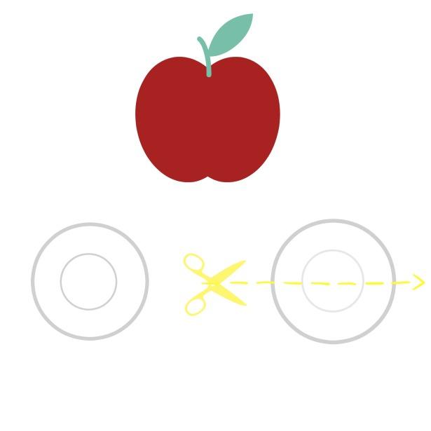 coupe de pommes