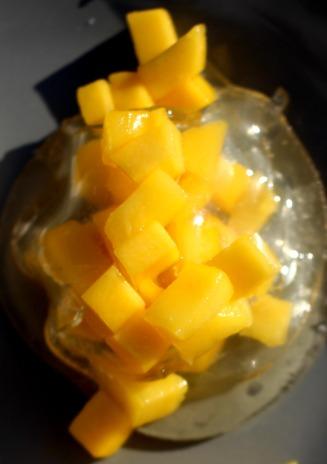 raviole citron à la mangue