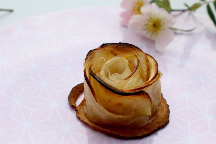 recette de rose pomme feuille de brick
