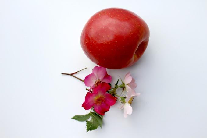 recette pomme en rose