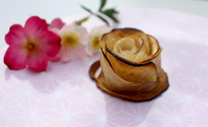 recette rose en pomme et pate
