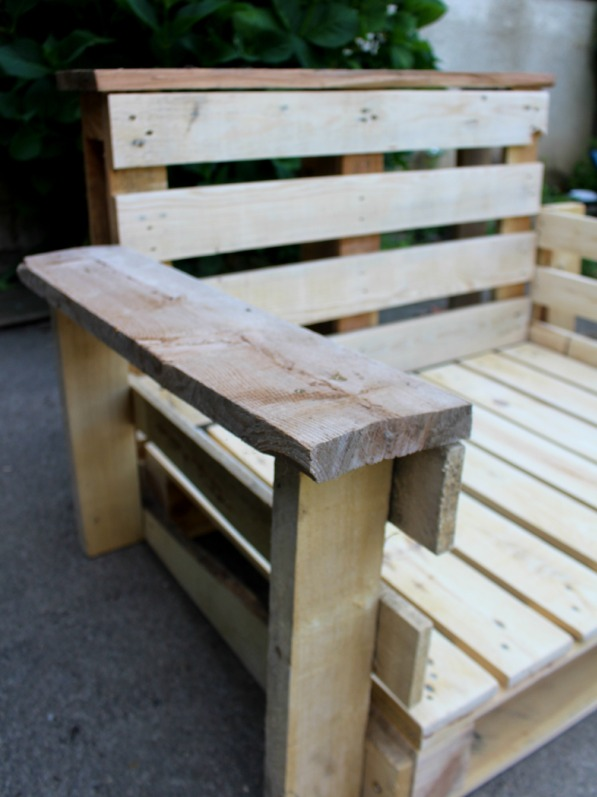 upcycling  diy fauteuil palette