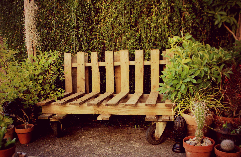 Luxe banc en palette id es de salon de jardin - Banc en palette facile ...