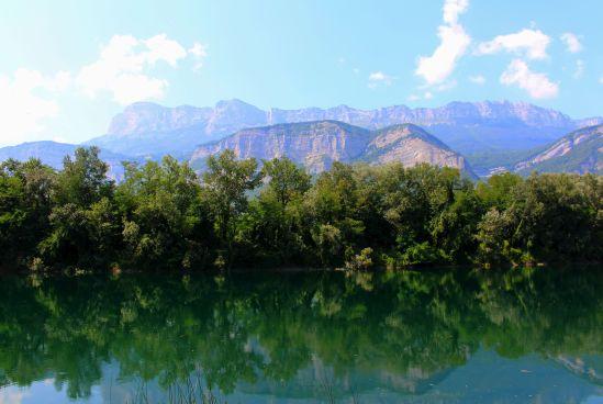 gravière sous le massif de la Chartreuse