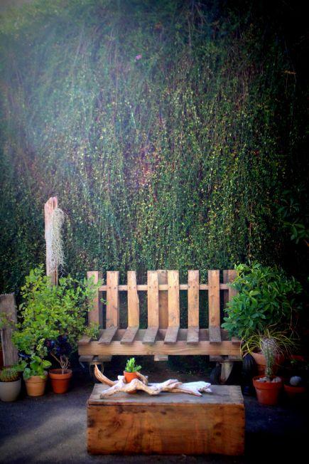 meuble palette, terrasse so green