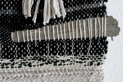 détail tissage bois flotté