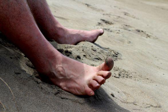 doigts de pied en éventail