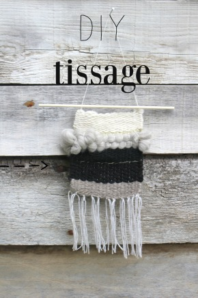apprendre à tisser, DIY tissage by woodhappen