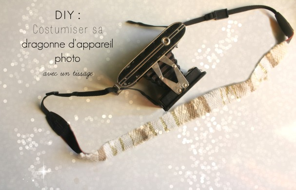 diy tissage dragonne appareil photo