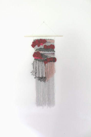 tissage woodhappen rouge et rose