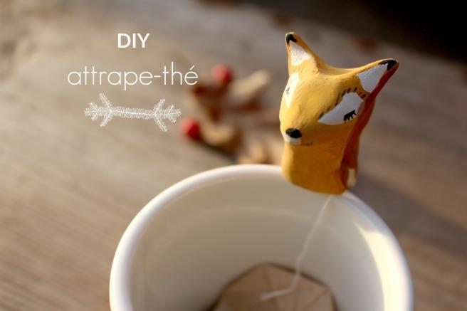 diy attrape-thé animaux de la forêt en argile