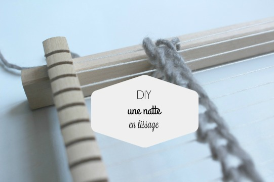 diy une natte en tissage contemporain
