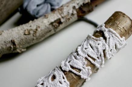 bâton en dentelle woodhappen