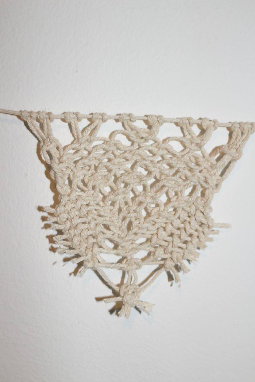 diy triangle en macramé Woodhappen