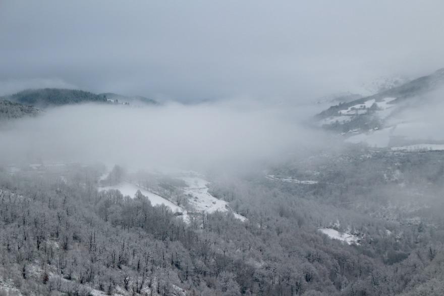 les Cévennes sous la neige