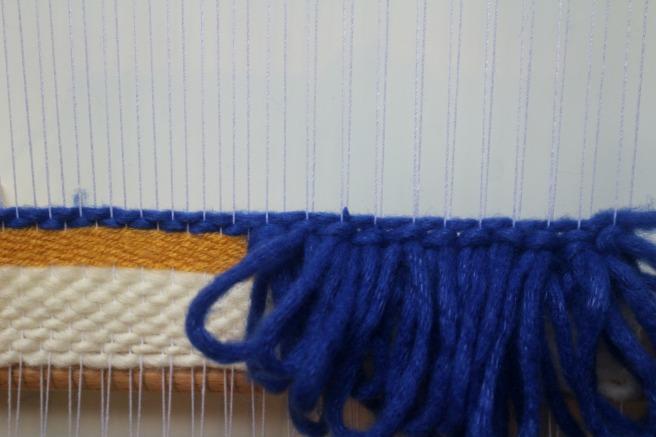tissage boucles bleu électrique woodhappen