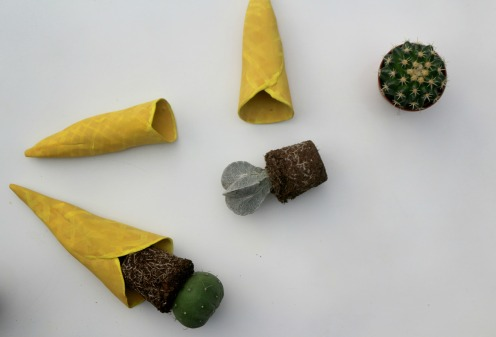 diy cornet de glace et cactus