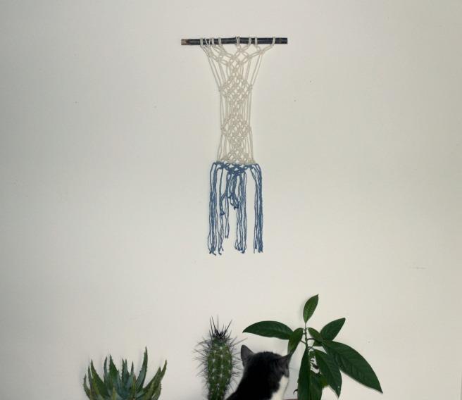 DIY décoration mural en macramé tie and dye woodhappen