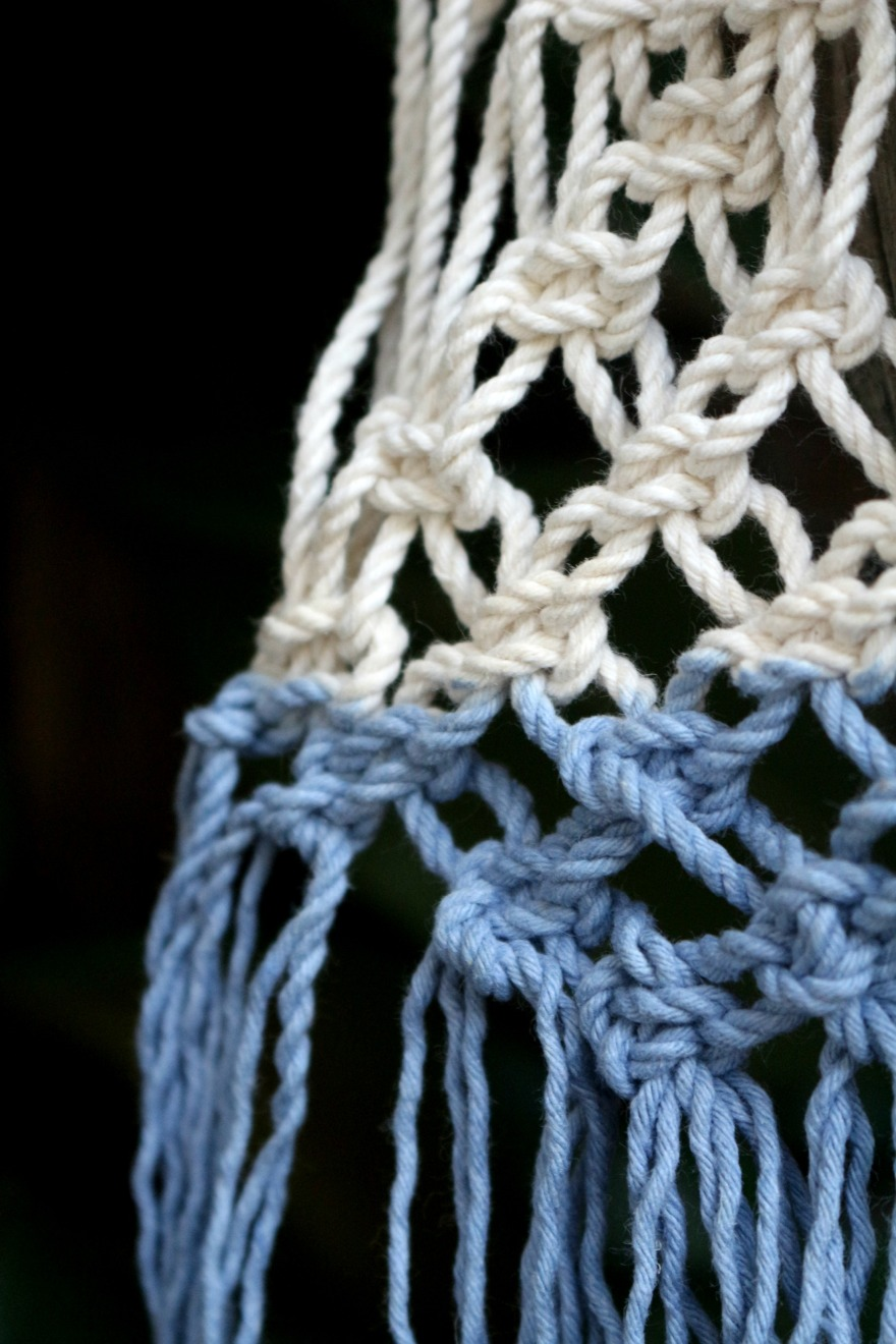 macramé tie and dye by woodhappen