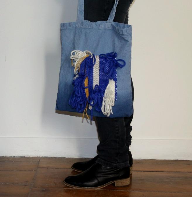 tote bag tissage woodhappen DIY