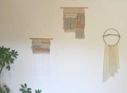Collection tissages muraux sunset by woodhappen