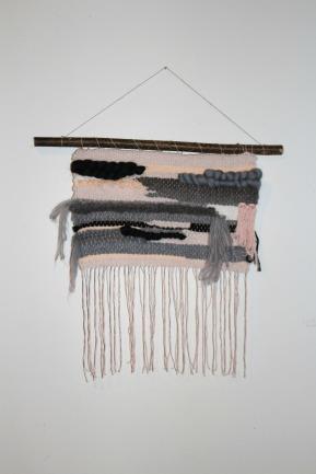 wall weaving Domitille woodhappen