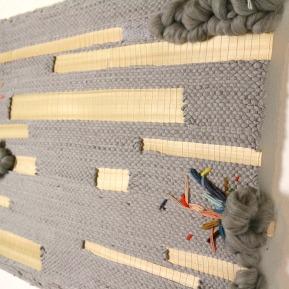 Artiste textile tissage bois et broderies woodhappen