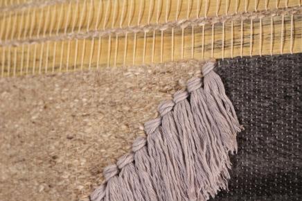 wall weaving wood and yarn