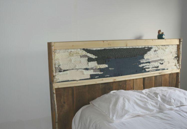 Peaceandwool x woodhappen woodhappen - Tete de lit en bois de recuperation ...