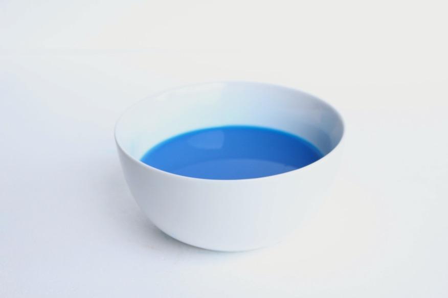 bol peinture bleu petite