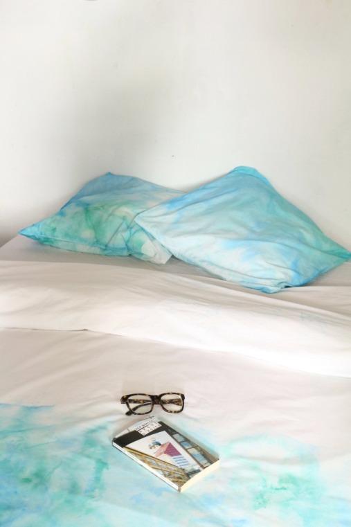 diy parure de lit ice dyeing petite